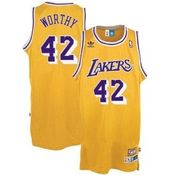 Camiseta James Worthy Los Angeles Lakers